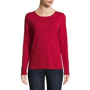 St Johns Bay Womens Round Neck Long Sleeve T-Shirt